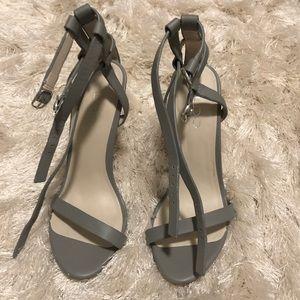 ALDO Leather grey heels